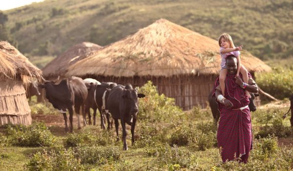 1-ngorongoro-crater-tanzania-Maasai Village